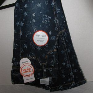 WONDER NATION STARS AND PLANETS JEANS NWT XS 4-5